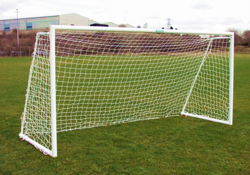 FOLDING GOAL POST - 80mm tube - 12 x 6 - ALUMINIUM